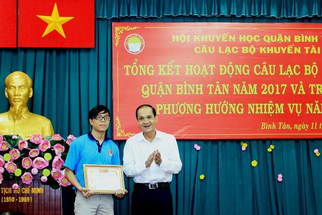 Thành viên Câu lạc bộ Khuyến tài quận Bình Tân rèn luyện kỹ